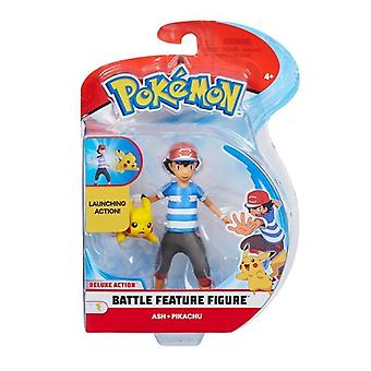 "Pokémon Battle Feature Figure Pack S1 (4.5"") - Cendre et Pikachu"