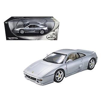 Ferrari F355 Berlinetta Silver 1/18 Diecast Model Car par Hotwheels