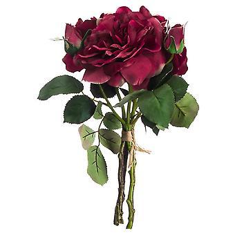 Hill Interiors Artificial Short Stem Rose Bouquet Flowers