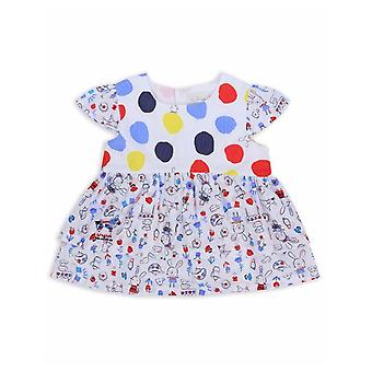 The Essential One Girls Blinky Bunny Short-sleeved Polka Dot Top