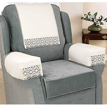 Chums Lace Chair Covers Non Slip Cotton Lace Furniture Cover Pair