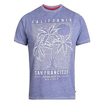 Duke Mens Oscar Kingsize San Francisco Printed T-Shirt