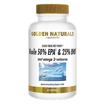 Golden Naturals fish oil 50% EPA & 25% DHA (60 Softgel Capsules)