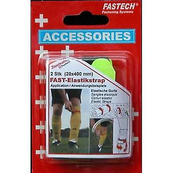 FASTECH® 693-656 Hook-and-loop tape with strap Hook and loop pad (L x W) 400 mm x 20 mm Black, Yellow 2 pc(s)