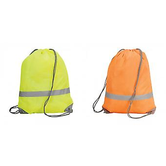 Shugon Stafford Drawstring Hi-Vis Tote Bag (13 Litres) (Pack of 2)