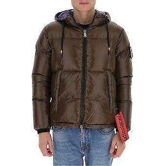 After Label Al021280 Men's Brown Polyester Down Jacket