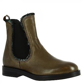 Leonardo Scarpe Donne's moda fatta a mano chelsea stivaletti stivali di fango in pelle di vitello