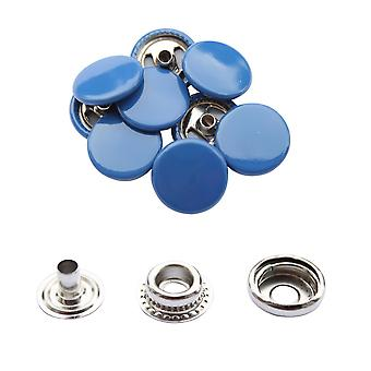 Royal Blue 15mm 4, Teil Press Studs, Snap Fastener