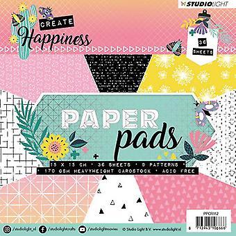 """Studio ljus Paper pad 6 """"X6"""" 36/pkg-skapa lycka, 9 mönster/4 vardera"""