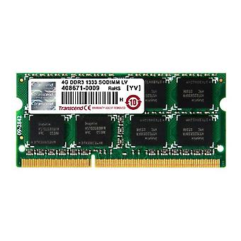 Transcend TS512MSK64W3N, 4 GB DDR3, 1333 Mhz, SO-DIMM, 2Rx8 1.35 V, Low Voltage