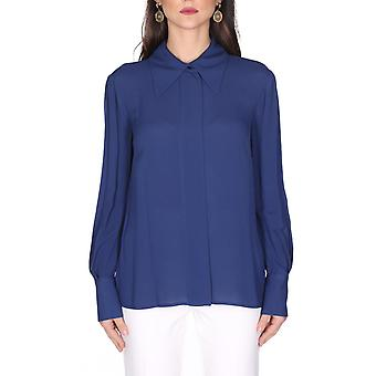 Elisabetta Franchi Ca24501e2y02 Women's Blue Viscose Shirt