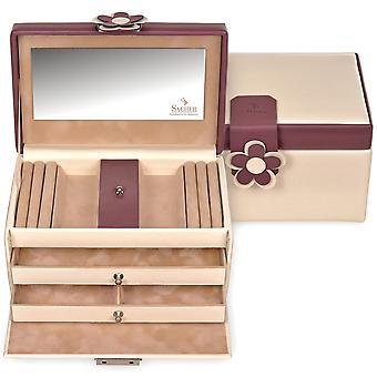 Sacher sieraden doos crème juwelendoosje BELLA FIORE rode kasteel spiegel