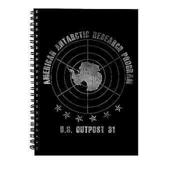 The Thing American Antarctic Research Program Spiral Notebook
