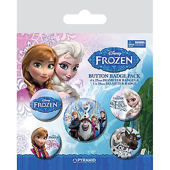 Frozen Frost Pin Button Badges Set