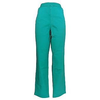 Liz Claiborne Nueva York Mujeres's Pantalones Hepburn Slim Leg Twill Verde A235266