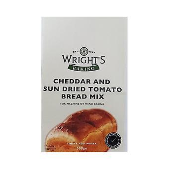 Wrights Bakning Wrights Cheddar & Sun Torkat tomatbröd Mix 500g X 5 Förpackningar