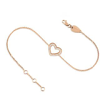 Baby Anklet Precious Diamonds Heart, 18K Gold