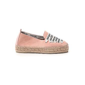 Sergio Rossi A84590mfn9755903 Dames's Pink Fabric Espadrilles