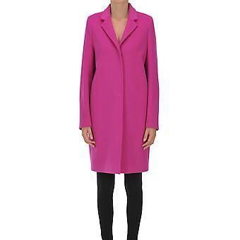 One Ezgl335029 Women's Fuchsia Wool Coat