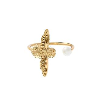 Olivia Burton Watches Obj16amr08 Pearl Bee Ring Gold