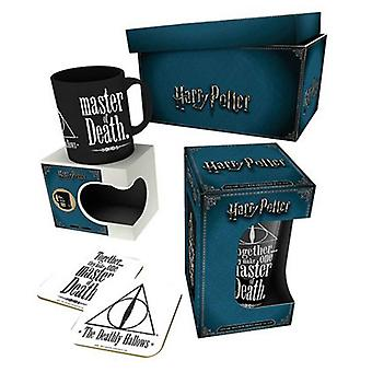 Harry Potter Mug Gift Box Deathly Hallows Logo glass coaster new Official