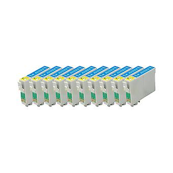 RudyTwos 10 x korvaaja Epson Seahorse muste yksikkö LightCyan yhteensopiva Stylus Photo R220, R200 R300, R300M, R320, R325, R330, R340, R350, RX300, RX320, RX500, RX600, RX620, RX640