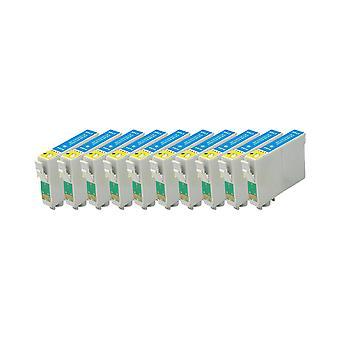 RudyTwos 10 x 用エプソン タツノオトシゴ インク ユニット薄い水色スタイラス写真 R220、R200、R300、R300M、R320、リヤに 325、R330、R340、R350、RX300、RX320、RX500、RX600、RX620、RX640 と互換性