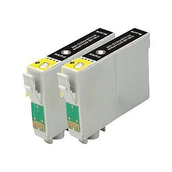 استبدال 2 x روديتوس لابل Epson الحبر وحدة سوداء متوافقة مع القلم SX230، SX235W، SX420W، SX425W، SX430W، SX435W، SX438W، SX440W، SX445W، SX445WE، SX525WD، SX535WD، SX620FW، B42WD مكتب، ب