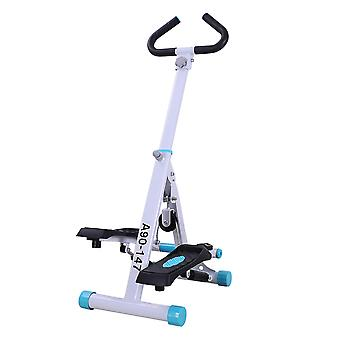 HOMCOM Stepper w/ Handle Hand Grip Workout Fitness Machine For Fitness Aerobic Exercise Home Gym White