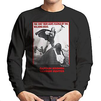 Hammer Horror films Captain Kronos alleen man levend mannen ' s Sweatshirt