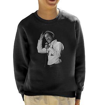 Sammy Davis Jr Singing In Concert 1982 Kid's Sweatshirt