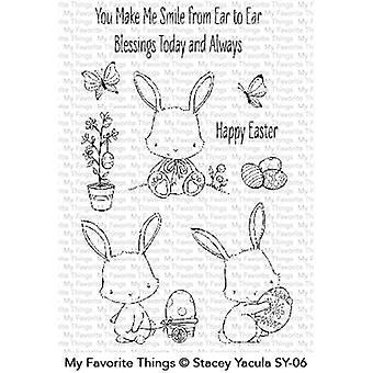 Mis cosas favoritas conejitos de Pascua sellos claros