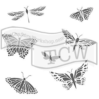 The Crafter's Workshop Mariposas 6x6 Inch Stencil