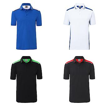 James and Nicholson Mens Workwear Level 2 Polo