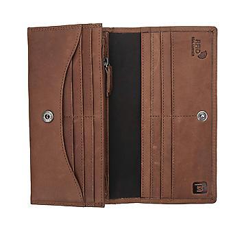 Primehide Womens Leather Matinee Bolsa RFID Bloqueio Matinee Ladies Wallet 4034