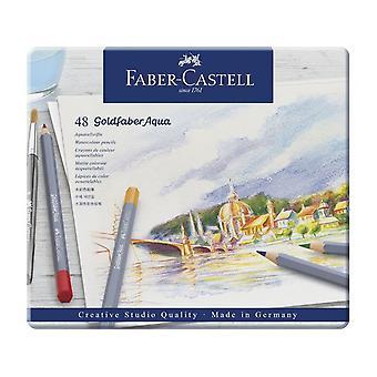 フェイバーカステルゴールドファバーアクア水彩画鉛筆48セット