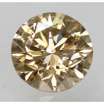 Cert 0,76 Karat Fancy Brown VS1 Runde brillante natürliche lose Diamant 5,71 mm