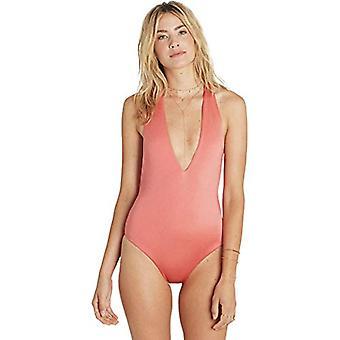 Billabong Women's Sol Searcher Deep V One Piece Swim Rose Blush Large