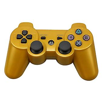 Stuff Certified® Gaming Controller for PlayStation 3 - PS3 Bluetooth Gamepad Gold
