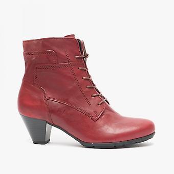 Gabor National Ladies Ankle Boots Rouge Foncé