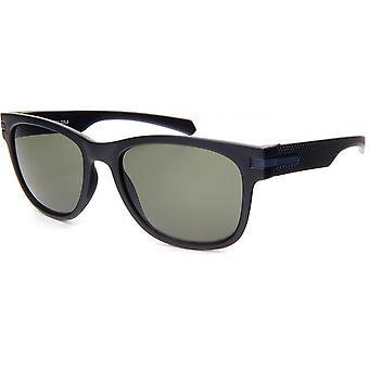 النظارات الشمسية Unisex المسافر Cat.3 غير لامع أسود / أخضر (19-251)