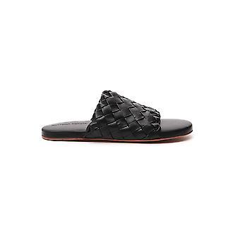 Bottega Veneta 620298vbtr01000 Men's Black Leather Sandals