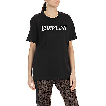 Replay Women's Replay Print T-Shirt Oversized Fit