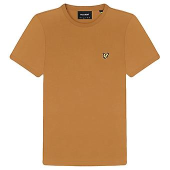 Lyle and Scott Plain T-Shirt - Caramel Brown