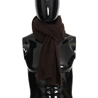Dolce & Gabbana Brown Wool Woven Scarf MS2083