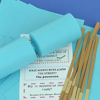 8 Jumbo Sea Blue Make & Fill Your Own DIY Recyclable Christmas Cracker Kit