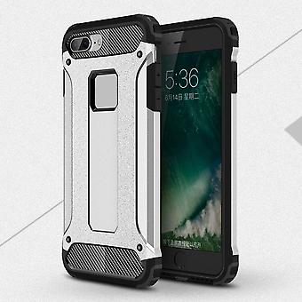 Shell for Apple iPhone 7 Plus 7+ Hard Armor Protection Silver TPU Case