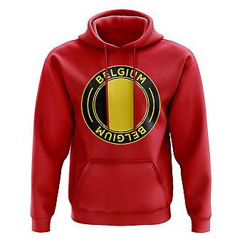 Belgia Fotball Badge Hettegenser (Rød)