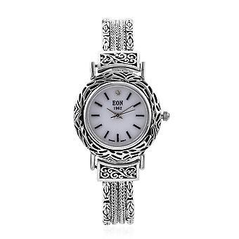 """EON 1962 Swiss Movement Water Resistant Bracelet Watch in Sterling Silver 7.25"""""""
