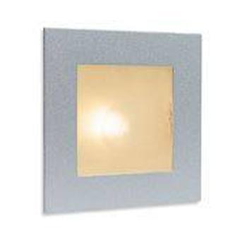 Firstlight - 1 Licht Indoor Einbauwand & Schritt Licht Satin Stahl, Glasabdeckung, G4 Glühbirne